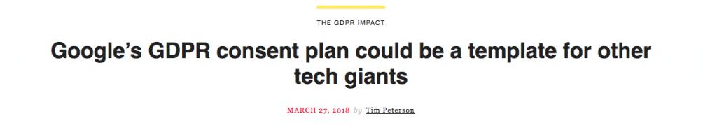 Google GDPR Plan Template