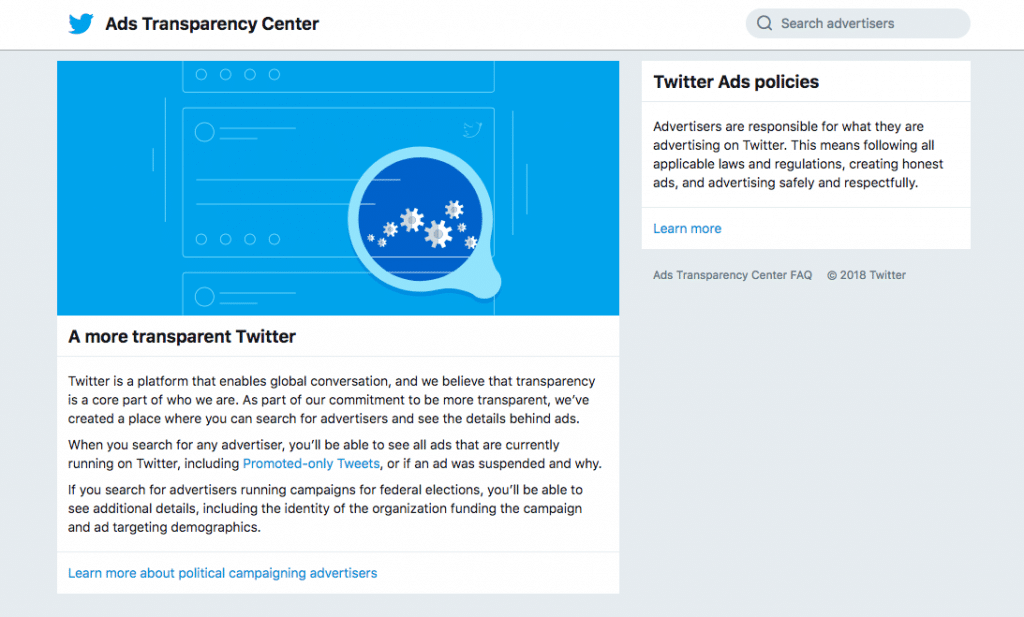 Twitter Ads Transparency Centre