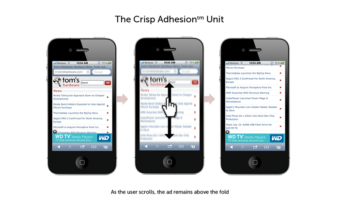 An Adhesion Banner Mobile Ad