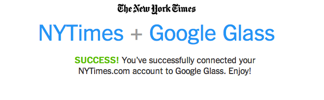 Google Glass NYTimes