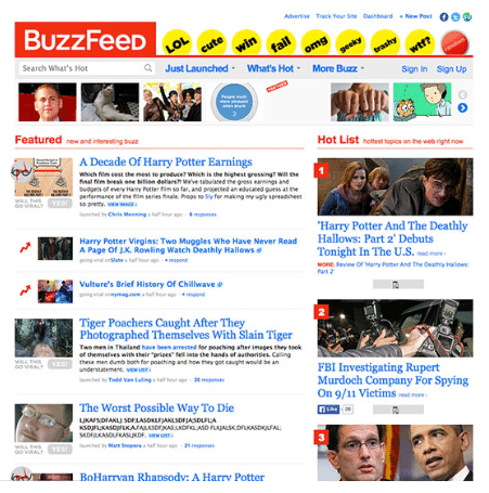 BuzzFeed Redesign