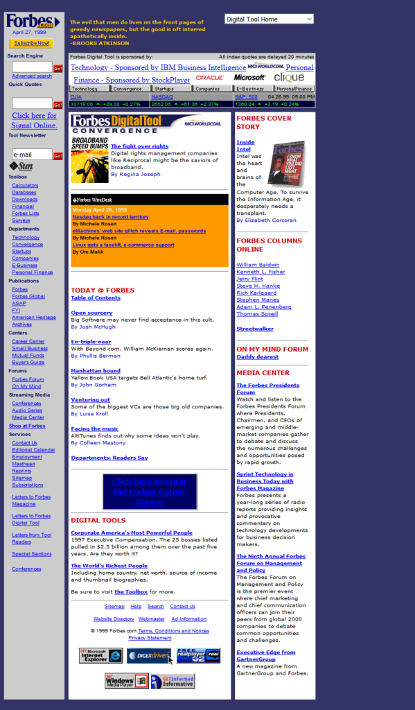 Forbes design in 1999