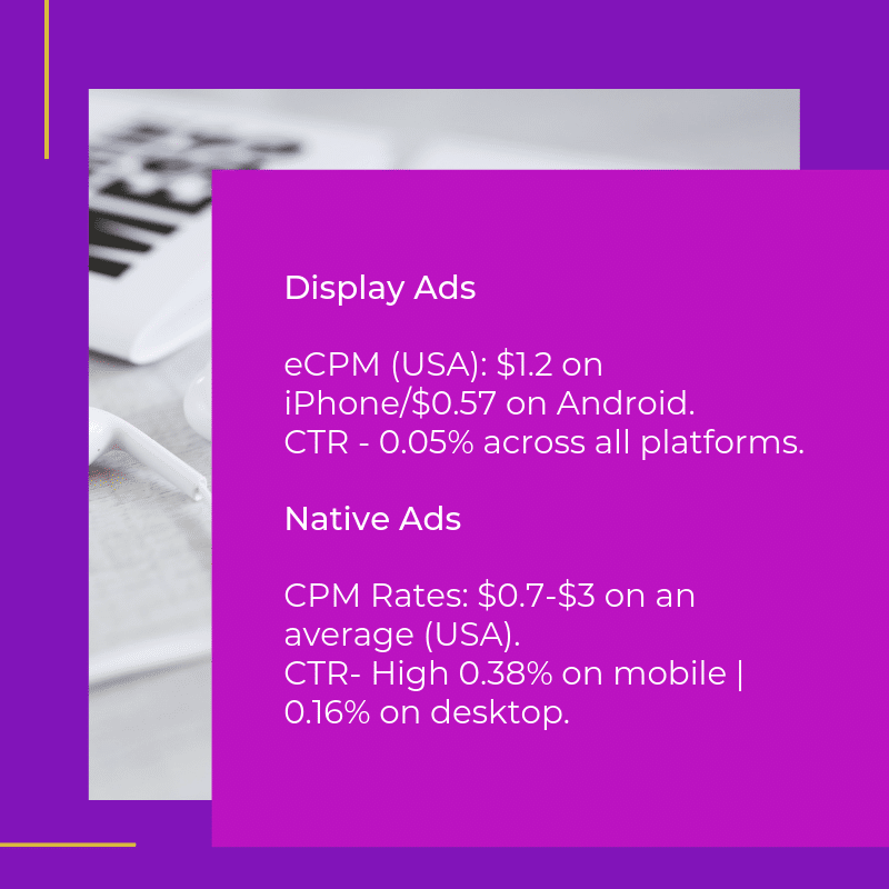 Native Ad CPM Vs Display Ad CPM