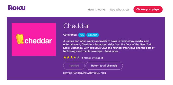 Roku and Cheddar Partnership