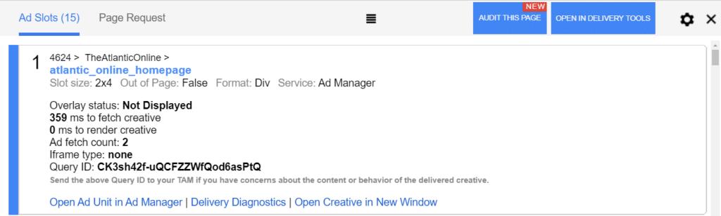 Google Publisher Console Components
