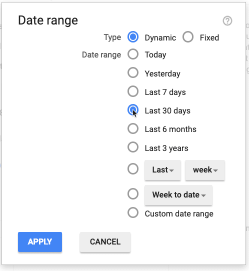 Select A Date Range for Ad Manager Report