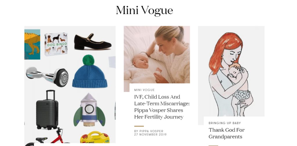 Mini vogue