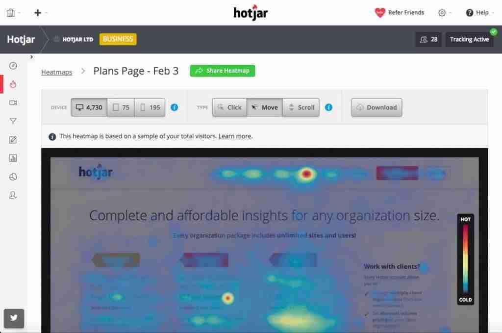 Website Heatmap - Automatad