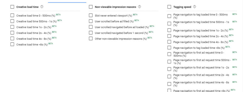 Ad Speed Metrics in Google Ad Manager Reports