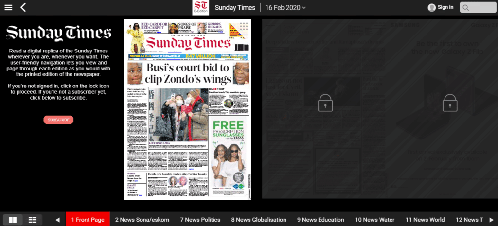The Sunday Times ePaper