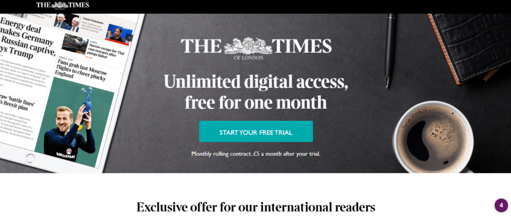 The Times Metered Paywall
