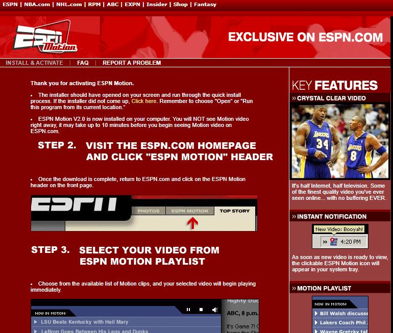 ESPN Motion