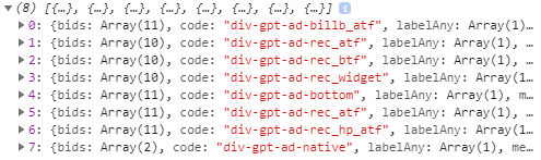 check bidders associated with an ad unit in console