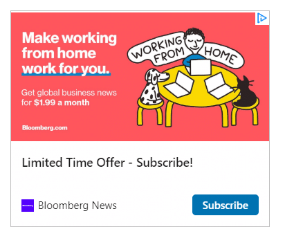 Bloomberg Subscription Ad