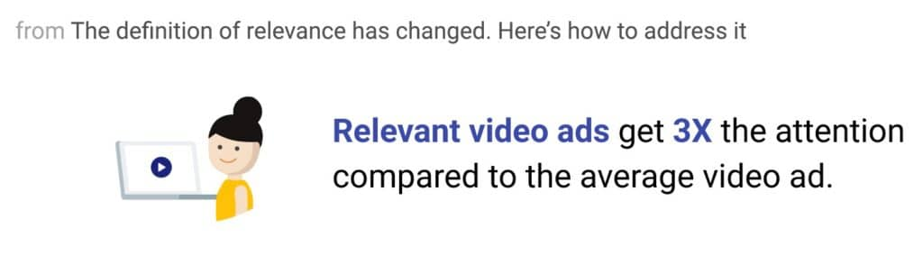 relevancy in video ads