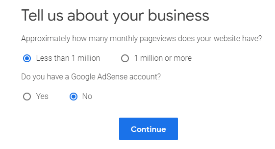 Sign up for Google Ad Manager