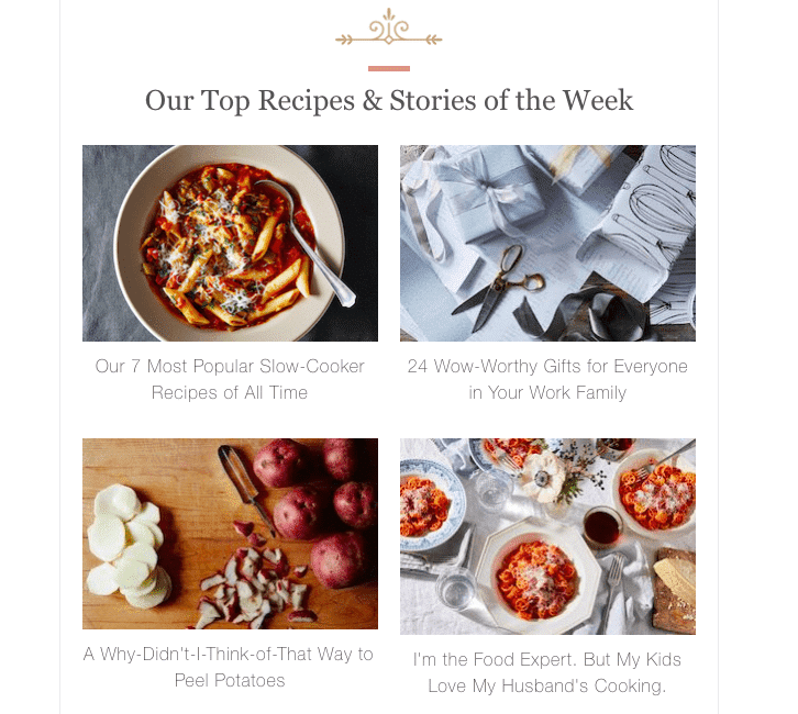 Food52s personalized content