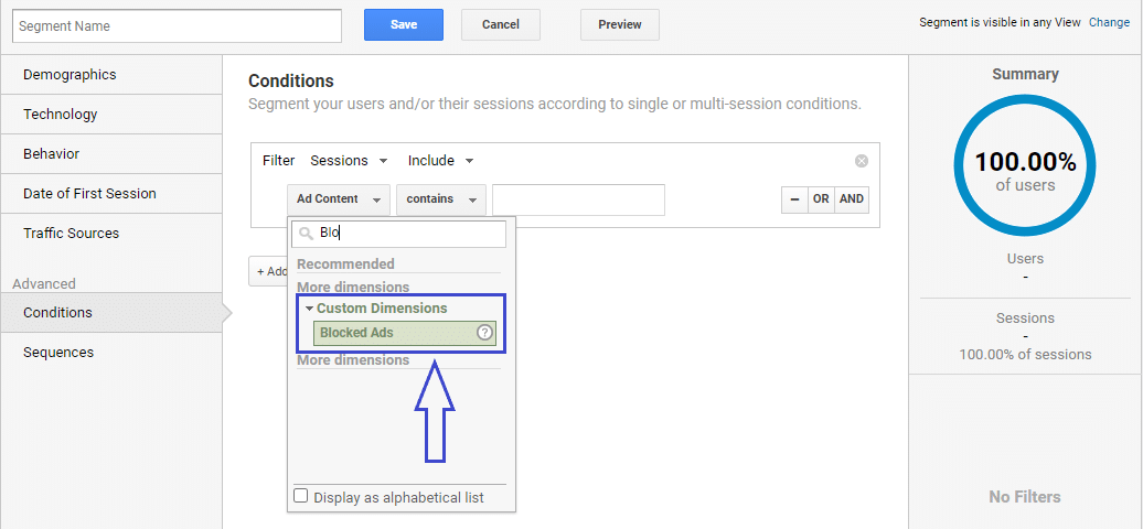 Blocked Ads in Google Analytics