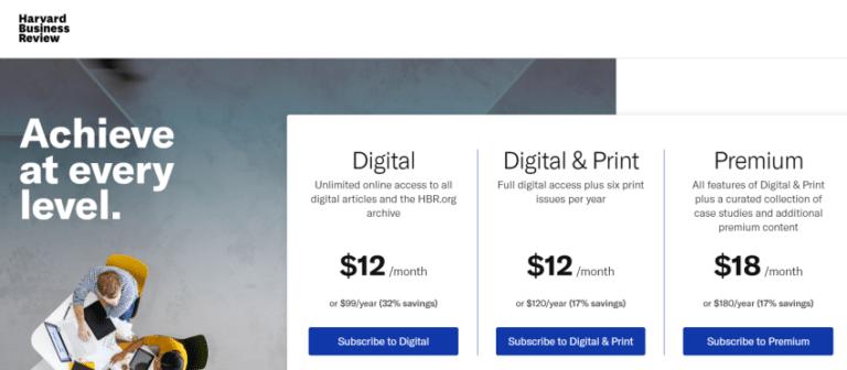 HBR Subscription Plans